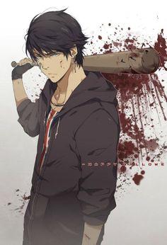 Bloody anime boy: