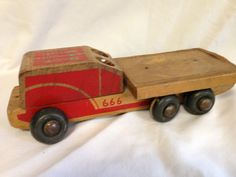 Vintage Wooden Toy Truck Assemblage by TheCollageMonkey61 on Etsy, $9.00