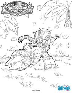stealth elf coloring page from skylanders video games more skylanders content on hellokidscom