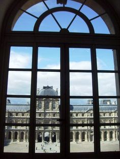 Window in the Louvre Museum Paris