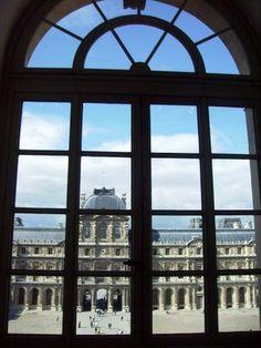 Window in the Louvre Museum Paris