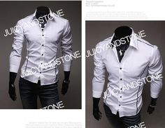 $20 Juicyandstone New Mens Fashion Casual Slim Fit Designed Shirts T-shirts Tee