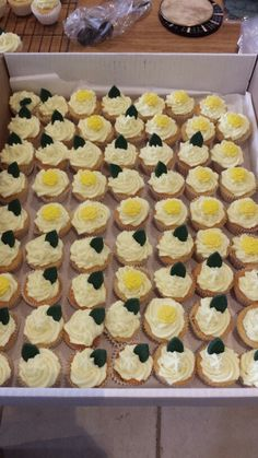 A selection of the 200 elederflower cupcakes