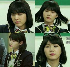 Y is dis boi *cough* gorl prettier than meh? Yoongi, Bts Jungkook, Taehyung, Foto Bts, Bts Memes, Daegu, Bts Polaroid, Bts Billboard, Min Yoonji