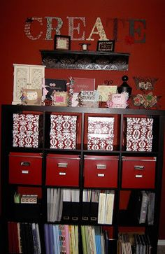 This may do!!!!   Scrapbook Organization And Storage   Scrapbook 911: ONE INCREDIBLE SCRAPBOOK ROOM...