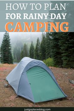 Wet camping doesn't have to ruin your camping trip. With our camping in the rain tips, you can even enjoyi camping in the rain with kids. We have lots of camping tips and tricks, including camping tips for beginners. Our camping in the rain hacks come from the occasional bad camping experience in Europe. We've put together our best camping experience to show you how to stay dry in the rain. Or, your kids may just want to throw on rainboots and embrace wet weather camping in full muddy glory. What To Bring Camping, Camping In The Rain, Travel With Kids, Family Travel, Travel Ideas, Travel Tips, Go Glamping, Day Camp, Wet Weather
