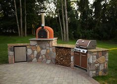 With pizza oven