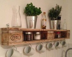 pallet shelves bleached by Legnaia on Etsy