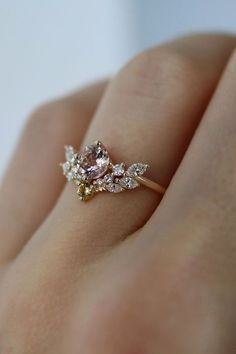 Engagement Ring Rose Gold, Best Engagement Rings, Diamond Wedding Bands, Morganite Engagement, Morganite Ring, Intricate Engagement Ring, Expensive Engagement Rings, Engagement Jewellery, Handmade Engagement Rings