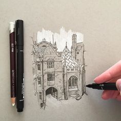 A quick little sketch #art #drawing #pen #sketch #illustration #linedrawing #architecture #building #oxford #uk #england