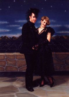 80s goth prom...is that my prom picture?!  I have one just like it somewhere....