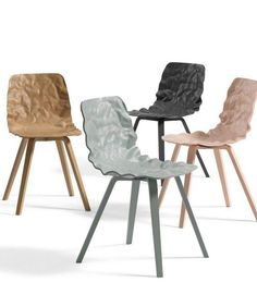 Wood veneer chair DENT WOOD by Blå Station