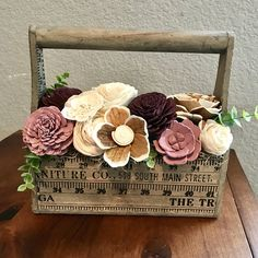 Your place to buy and sell all things handmade Ruler Box Sola Wood Forever Wooden Flower Arrangement/ Farmhouse Wood Floral Arrangement/ Rustic Flowers Sola Wood Flowers, Rustic Flowers, Paper Flowers, Dried Flowers, Wooden Flower Boxes, Diy Flower Boxes, Flower Ideas, Mason Jar Projects, Dallas