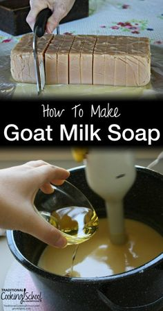 How To Make Goat Milk Soap   The products we use on our body should be just as safe and clean as the food we put into our bodies. One of the best ways to make sure of this is to make your own bath and body products, and this tutorial will show you how to make goat milk soap. It's easier than you might think!   TraditionalCookingSchool.com