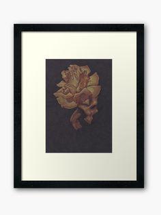 """Skull Bloom"" Framed Print by -LAM- | Redbubble Centerpiece Decorations, Off Colour, Custom Boxes, Box Frames, Sell Your Art, Floor Pillows, Framed Art Prints, Skull, Bloom"