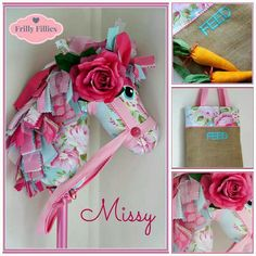 Hobby horse using my pattern! Sewing Toys, Sewing Crafts, Sewing Projects, Craft Projects, Cute Crafts, Felt Crafts, Crafts For Kids, Unicorn Diy, Unicorn Party