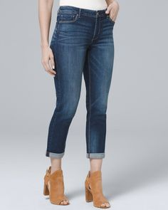 12b398e5f5 Women s Curvy Slim Crop Jeans by White House Black Market Jeans Outfit For  Work