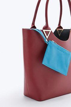 Bing Bang X UO Leather Tote Bag in Burgundy