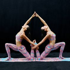 Chin Twins for Mara Hoffman Active, by Nigel Barker