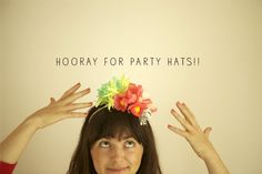 Flower party hat headbands?! Sa-weet