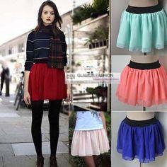 New Cute Chiffon Mini Skirt XS 3XL GF0628 | eBay