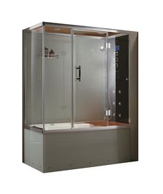 Turn Your Bathroom Into A Luxury Spa Experience With This Steam Shower.  Featuring Six Jets, Acupressure Body Massage Functionality And An Overhead U2026