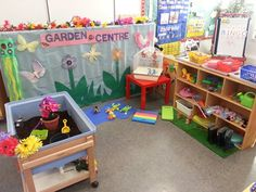This center lets the children explore a part of nature that is in their own backyard. It is hands-on activities, readings, and visuals for the students to learn and explore. Dramatic Play Themes, Dramatic Play Area, Dramatic Play Centers, Preschool Garden, Preschool Projects, Play Corner, Role Play Areas, Play Centre, Spring Theme