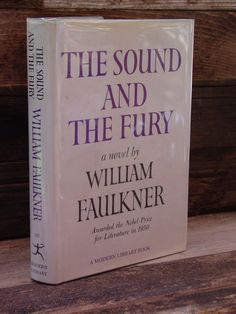 MODERN LIBRARY-William Faulkner Sound & The Fury ML 187 HBDJ American Classics