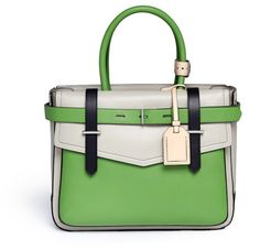 Reed Krakoff Boxer Colourblock Leather Bag in Green (Multi-colour)