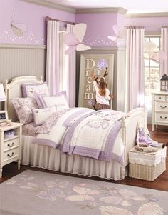 Pottery Barn Kids- our inspiration is Purple and white as a base for Hailey's room.