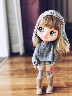Jiajiadoll custom listing grey blouse fits Blythe azone s m