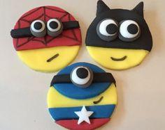 minion spiderman cookies - Google Search