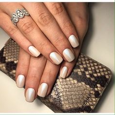 Here you can see the original idea of manicure for the office workers. Delicate pastel base of the nails combines ...