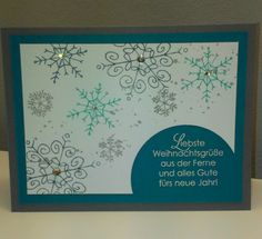 Christmas Card Stampin' Up!, Wunderbare Weihnachtsgrüße, Endless Wishes, Wünsche zum Fest, Heat Embossing.