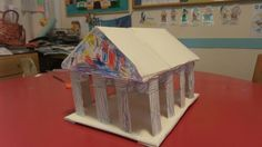Parthenon.. with paper tube.. craft for kids..