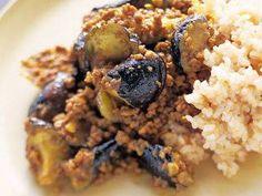 Curried Eggplant & Ground beef  有元風なすのドライカレー