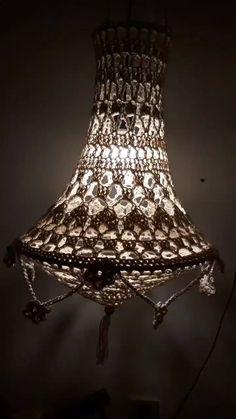 Crochet Lampshade, Crochet Curtains, Interior Room Decoration, Room Interior, Christmas Crochet Patterns, Crochet Home Decor, Macrame Art, Weaving Projects, Fairy Lights