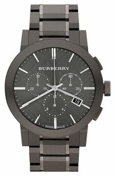 """Burberry Steel Cronograph Watch"" !...  http://about.me/Samissomar"