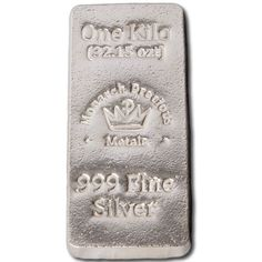 Buy 1 Kilo Monarch Poured Stacker Silver Bars - Silver.com