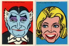 1964 Munsters stickers (Kayro-Vue Productions)