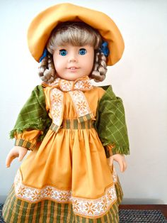 American Girl Doll Clothes Kirsten Dress by BackInTimeCreations