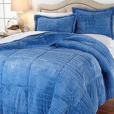 Concierge Soft & Cozy Carved Faux Fur Comforter Set