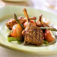 Grilled Fennel-Cumin Lamb Chops  Nutrition Facts Per Serving:  Servings Per Recipe: 2 PER SERVING: 248 cal., 14 g total fat (5 g sat. fat), 355 mg sodium, 1 g carb. 29 g pro. Diabetic Exchanges  Lean Meat (d.e): 4; Fat (d.e): 0.5