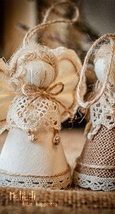 Angel Christmas Ornaments, Wedding Decorations, Burlap Home Decor, Handmade Gift, Birthday Present, Christmas Decorations, Wedding Accessories