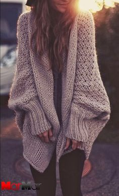 Creamy color oversized crochet cardigan
