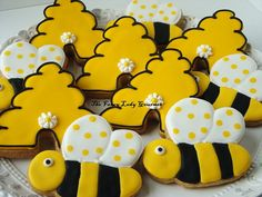 Bumble Bee cookies 1 dozen by TheFancyLadyGourmet on Etsy, $30.00