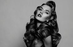 hollywood waves - retro long hairstyle