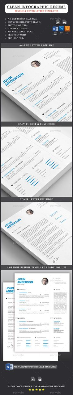 XX Clean Resume Cv template, Resume cv and Font logo - resume layout template