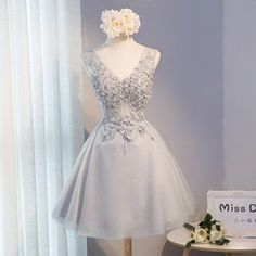 Buy Miss D Floral Appliqué Sleeveless Prom Dress at YesStyle.com! Quality products at remarkable prices. FREE WORLDWIDE SHIPPING on orders over US$35.