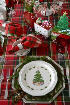 Christmas Cheer: Trains, Candy Canes, Plaid and Pfaltzgraff Holiday Heritage